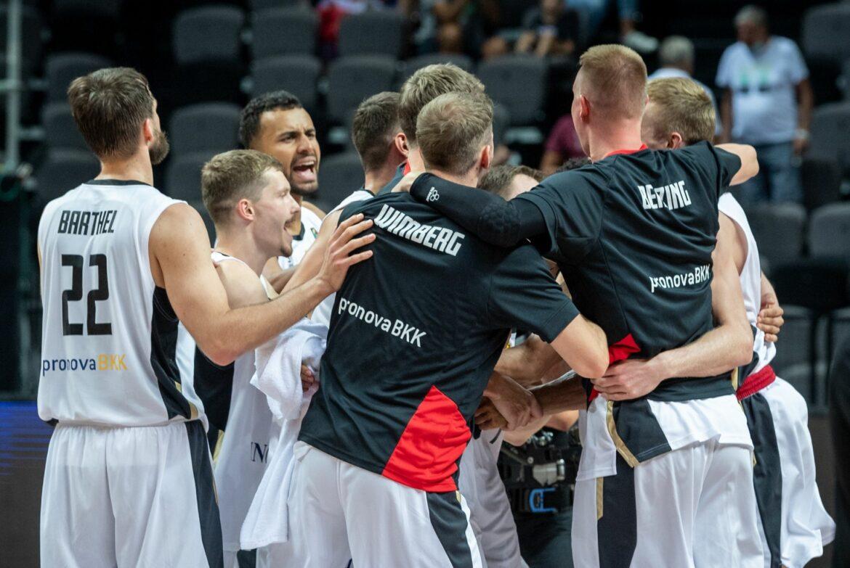 Deutsche Basketballer glauben ans Viertelfinale